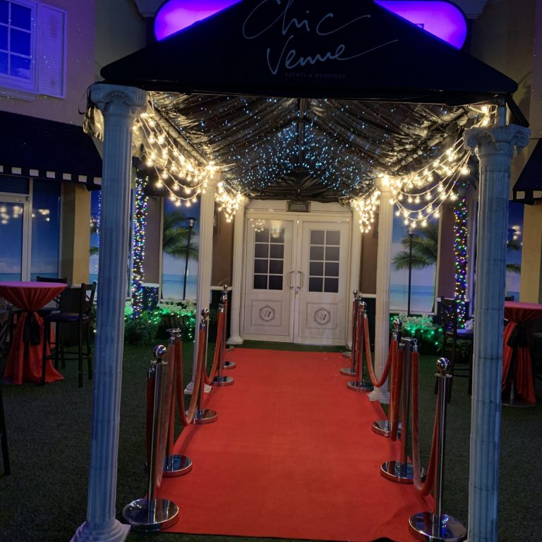 Chic Venue Entrance